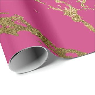 Papel De Presente Do mármore cor-de-rosa do ouro de Rubin da
