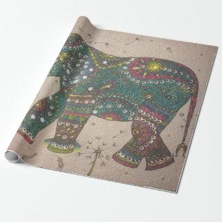 Papel De Presente Elefante