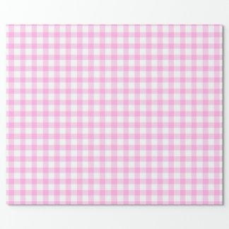 Papel De Presente Envoltório cor-de-rosa e branco modelado do