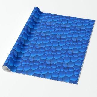 Papel De Presente Escala azul do dragão da safira