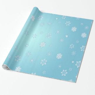 Papel De Presente Flocos de neve brancos