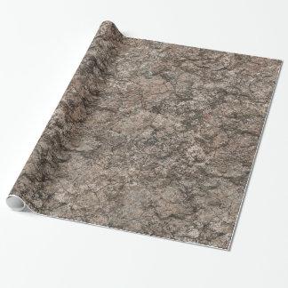 Papel De Presente Fundo seco rachado da textura do rés-do-chão do