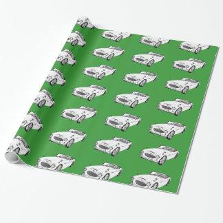 Papel De Presente Ilustração do carro de esportes de Austin Healey