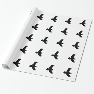 Papel De Presente Impressão do pássaro dos corvos do vôo