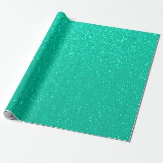 Papel De Presente Impressão macio do brilho do verde da hortelã