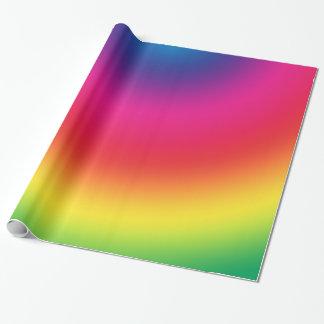 Papel De Presente Inclinação do arco-íris - modelo personalizado dos