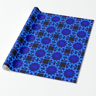 Papel De Presente Laser azul #2