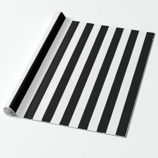 Papel De Presente Listras verticais pretas