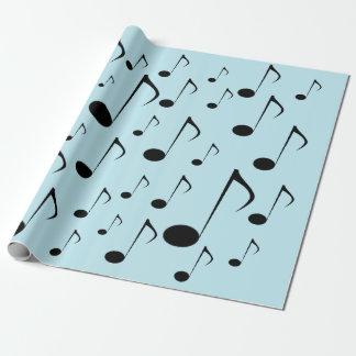 Papel De Presente Lotes de notas musicais