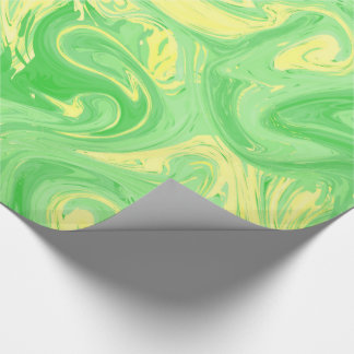 Papel De Presente Luz - textura marmoreada verde, técnica rica do