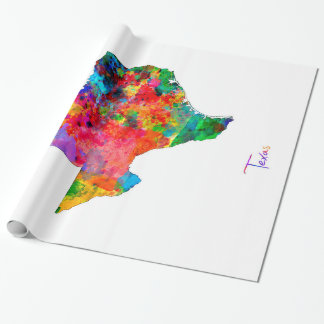 Papel De Presente Mapa de Texas