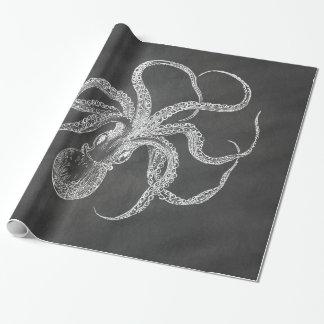 Papel De Presente Modelo do fundo do quadro do polvo do vintage