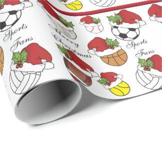 Papel De Presente Natal das bolas | do esporte do jogador de equipa