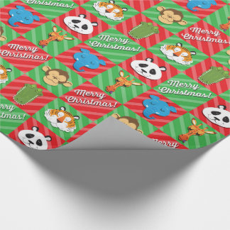 Papel De Presente Natal dos animais do sono