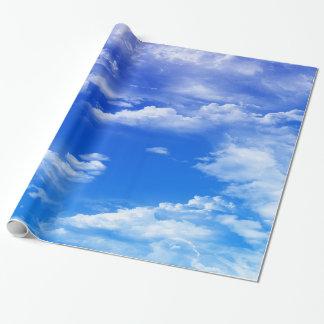 Papel De Presente Nuvens