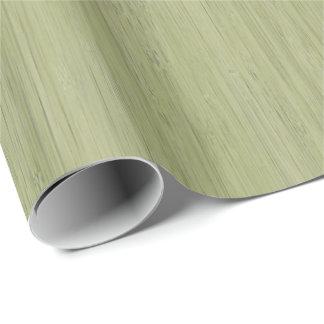 Papel De Presente Olhar de madeira de bambu da grão do verde de