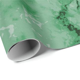 Papel De Presente Olhar de mármore verde da textura
