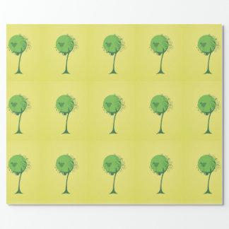 Papel De Presente Papel de envolvimento abstrato da árvore