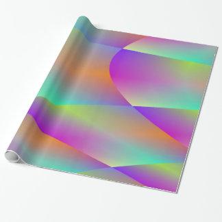 Papel De Presente Papel de envolvimento metálico colorido do Fractal