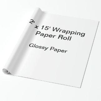 Papel De Presente Papel de envolvimento (rolo 2x15, papel lustroso)