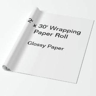 Papel De Presente Papel de envolvimento (rolo 2x30, papel lustroso)