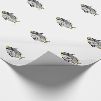 Papel De Presente Peixes geométricos