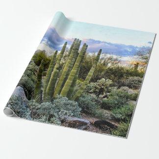 Papel De Presente Por do sol do Succulent de Scottsdale