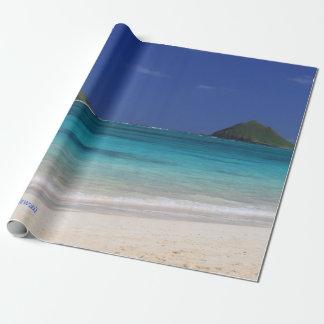 Papel De Presente Praia de Lanikai, votada # 1 praia no mundo