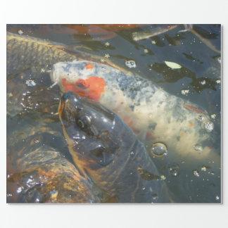 Papel De Presente Presente do papel de envolvimento do lago pond de