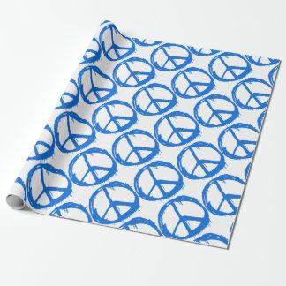 Papel De Presente Símbolo azul do sinal de paz