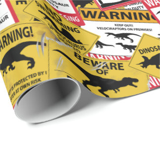 Papel De Presente Sinais do cuidado do dinossauro