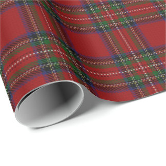 Papel De Presente Tartan do Scottish de Stewart do clã