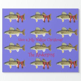 """Papel De Presente """"Tenha Walleye Pike de um Natal alegre dos"""