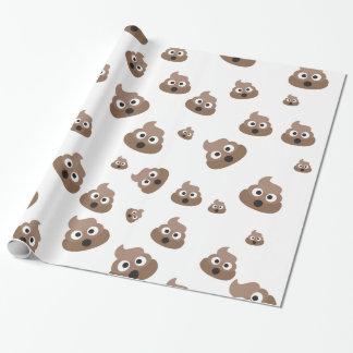 Papel De Presente Teste padrão bonito de Emoji do tombadilho