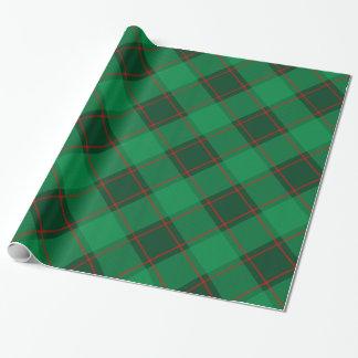 Papel De Presente Teste padrão da xadrez - verde e vermelho