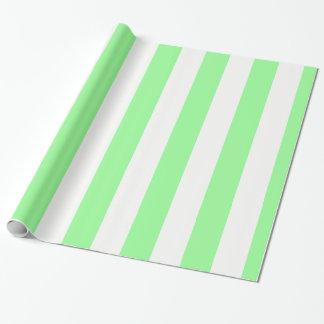 Papel De Presente Teste padrão enorme verde e branco da hortelã
