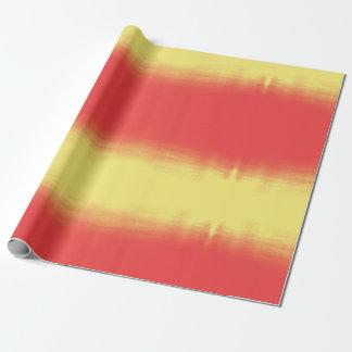 Papel De Presente Textura da aguarela de Ombre - vermelho e amarelo