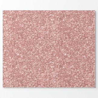 Papel De Presente Textura do brilho do rosa Salmon