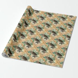 Papel De Presente Vintage da coruja de celeiro