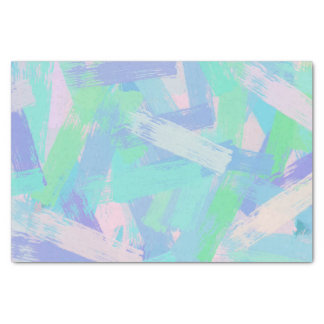 Papel De Seda a escova multicolorido afaga a textura
