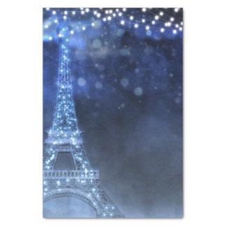 Papel De Seda A noite Enchanted na corda de Paris ilumina o