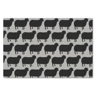 Papel De Seda A ovelha negra mostra em silhueta o teste padrão