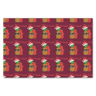 Papel De Seda Abacaxi do Natal de Mele Kalikimaka