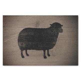 Papel De Seda As ovelhas negras mostram em silhueta o estilo