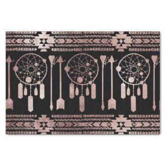 Papel De Seda Asteca tribal do ouro cor-de-rosa de Dreamcatcher