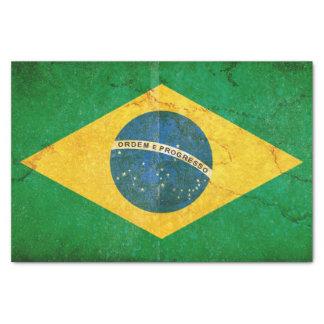Papel De Seda Bandeira de Brasil do Grunge do vintage