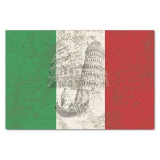 Papel De Seda Bandeira e símbolos de Italia ID157