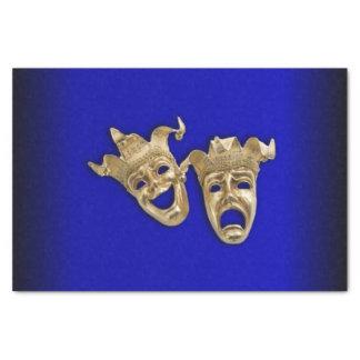 Papel De Seda Cobalto das máscaras do teatro da comédia e da