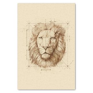 Papel De Seda Desenho do leão