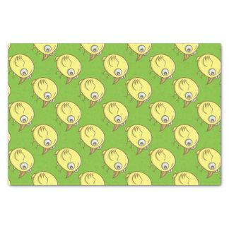 Papel De Seda Desenhos animados amarelos do pássaro